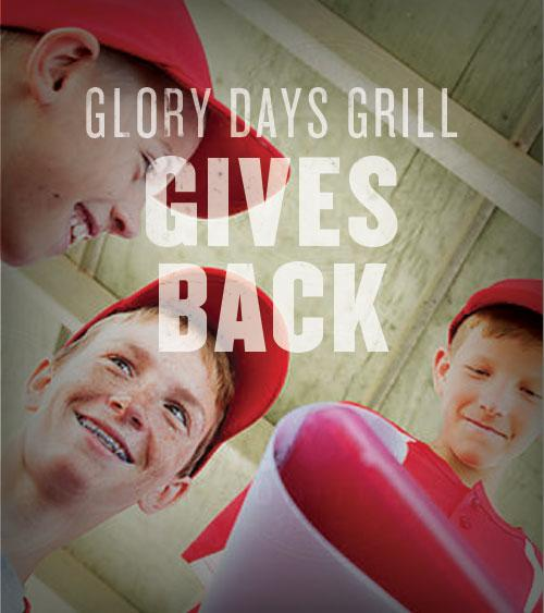 Glory Days Grill Gives Back